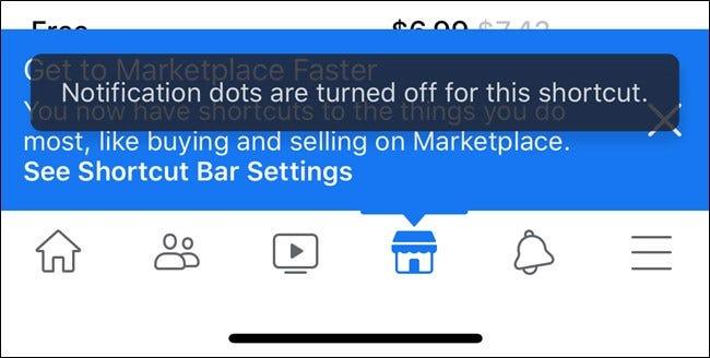 Apple iPhone Facebook App Benachrichtigung Punkte aus Dialog