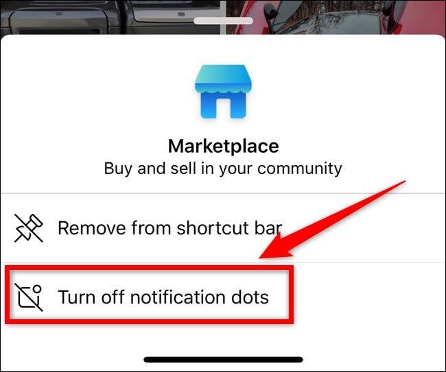 Apple iPhone Facebook App Wählen Sie Benachrichtigungspunkte deaktivieren