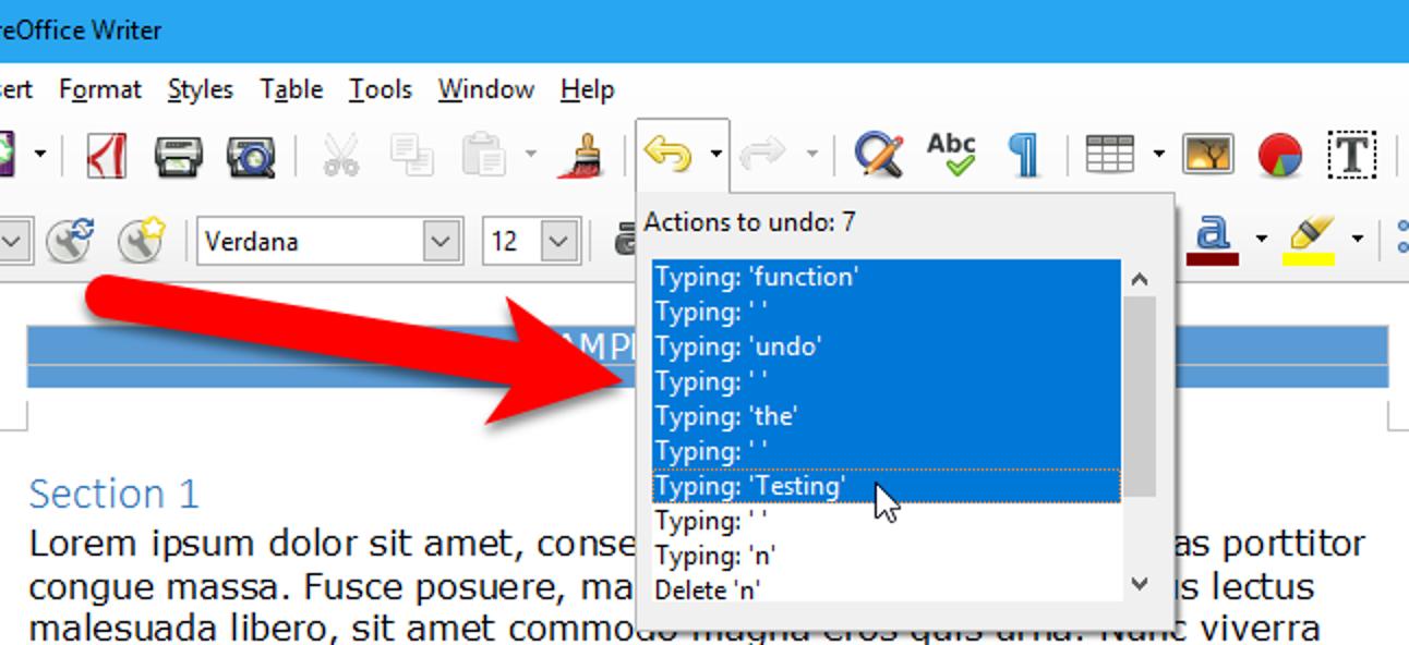So ändern Sie die Anzahl der Aktionen, die Sie in LibreOffice rückgängig machen können