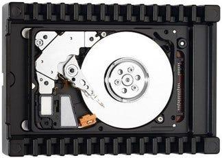 Bild einer Festplattenplatte.