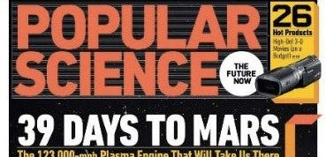 Überschrift des populärwissenschaftlichen Magazins mit 39 Tagen bis zum Mars.