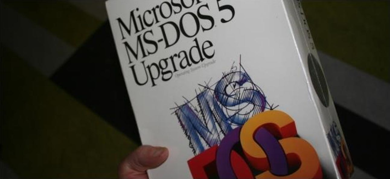 Wie war die Verwendung von MS-DOS tatsächlich?