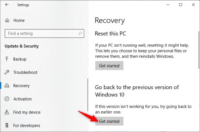 Deinstallation des Windows 10-Updates vom Mai 2020