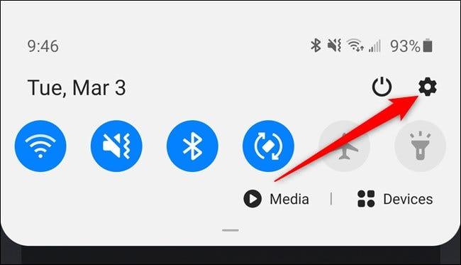 Samsung Galaxy S20 Tippen Sie auf das Zahnradsymbol