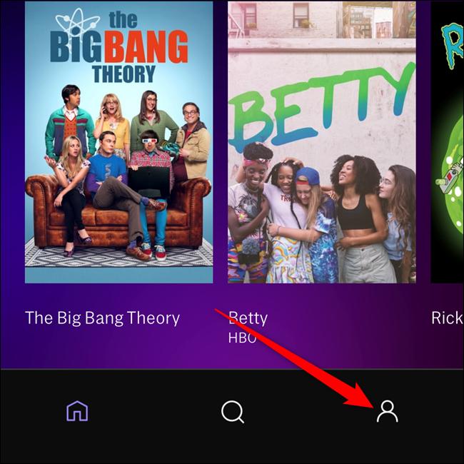 Wählen Sie die Registerkarte Profil in der unteren rechten Ecke der App
