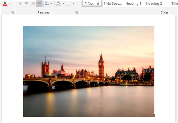 Ein Beispielbild in einem Microsoft Word-Dokument.