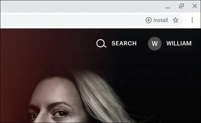 Google Chrome Omnibox mit der Schaltfläche zum Installieren der progressiven Web-App.