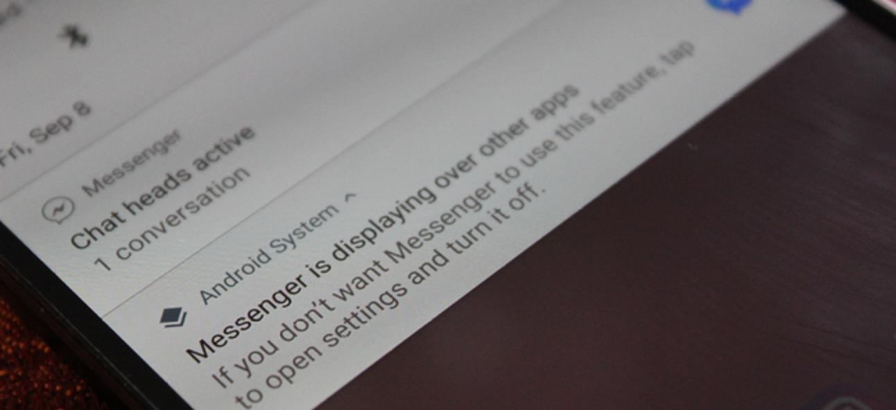 """So deaktivieren Sie die Benachrichtigung """"Wird über andere Apps angezeigt"""" auf Android Oreo"""