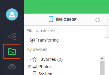 Airdroid PC Files Option