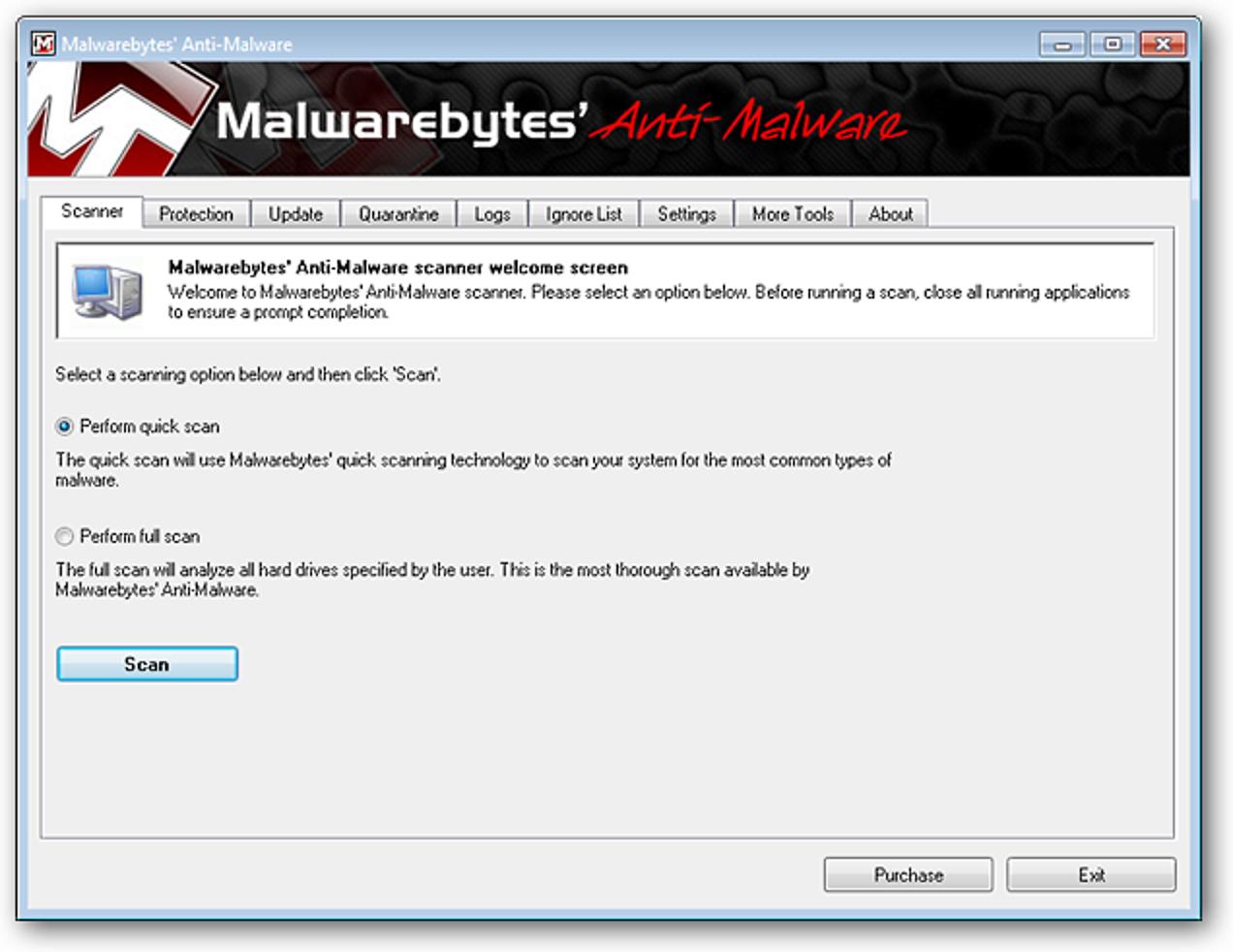 Entfernen Sie Malware schnell mit Malwarebytes Anti-Malware