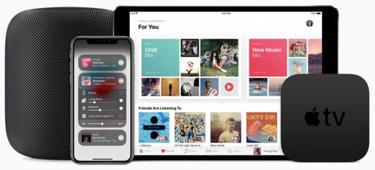 Verwendung der neuen Multi-Room-Audiofunktionen von Apple in AirPlay 2
