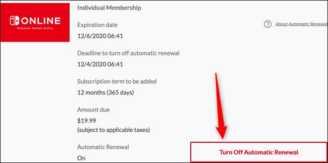 Automatische Verlängerung deaktivieren (Web)