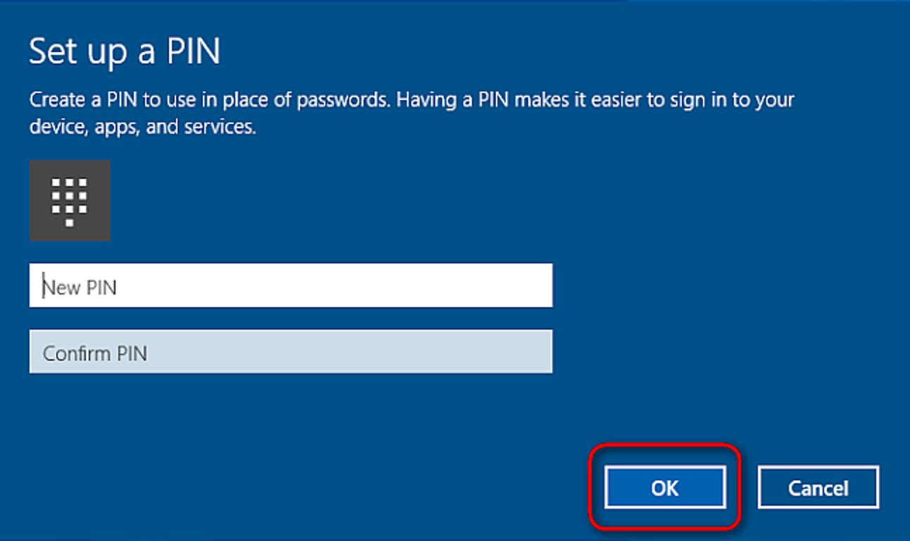 So fügen Sie Ihrem Konto in Windows 10 eine PIN hinzu
