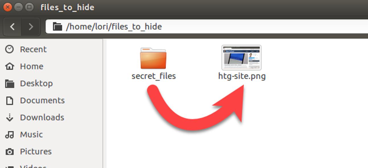 So verstecken Sie eine Datei oder einen Ordner in einem Image unter Linux