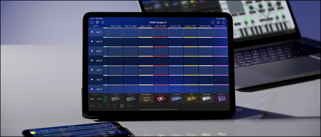 KORG Gadget läuft auf einem iPad Pro