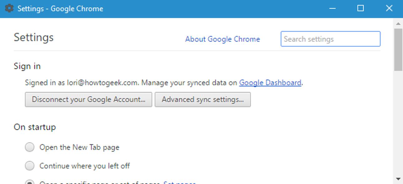 So öffnen Sie die Google Chrome-Einstellungen in einem separaten Fenster