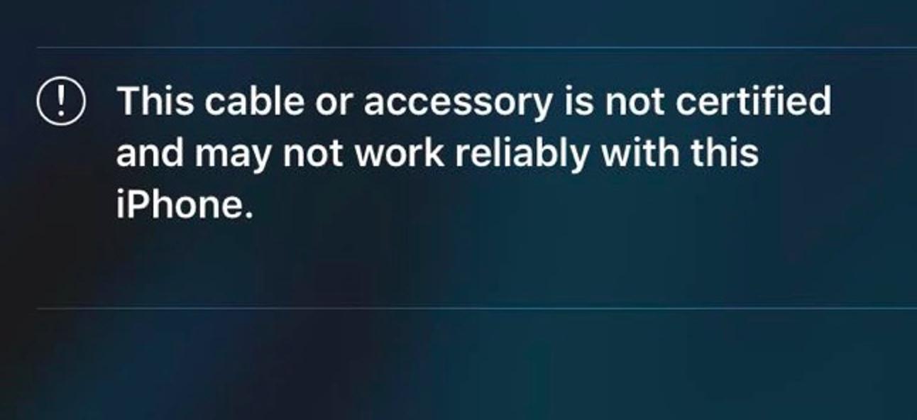 """Warum Ihr iPhone oder iPad sagt """"Dieses Kabel oder Zubehör ist nicht zertifiziert"""""""