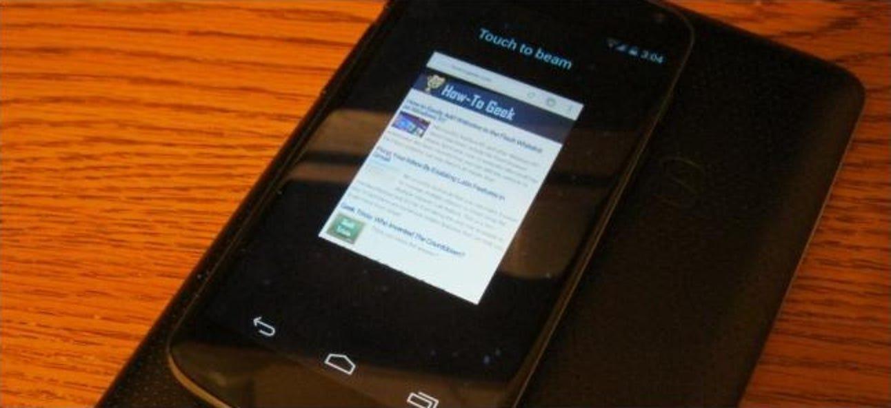 Verwendung von Android Beam zum drahtlosen Übertragen von Inhalten zwischen Geräten