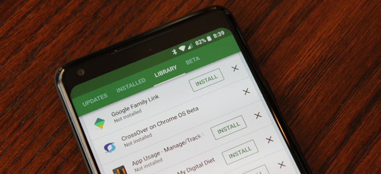 So finden Sie eine Liste aller von Google Play installierten Apps