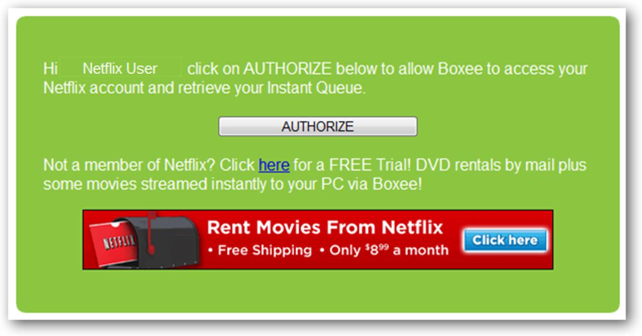 Sehen Sie sich Netflix-Sofortbildfilme in Boxee an