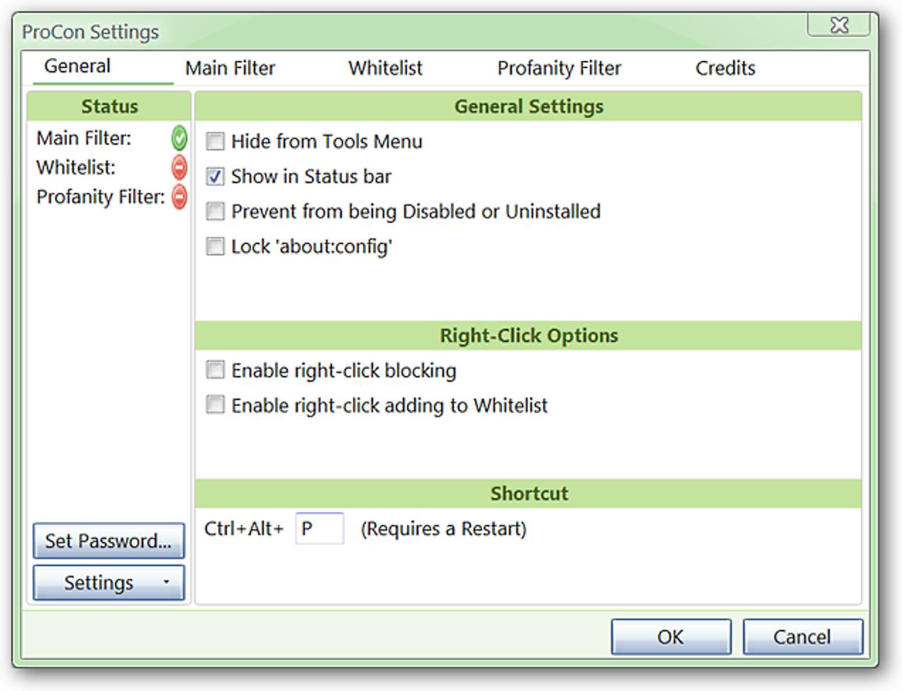Filtern Sie Webinhalte in Firefox mit ProCon Latte