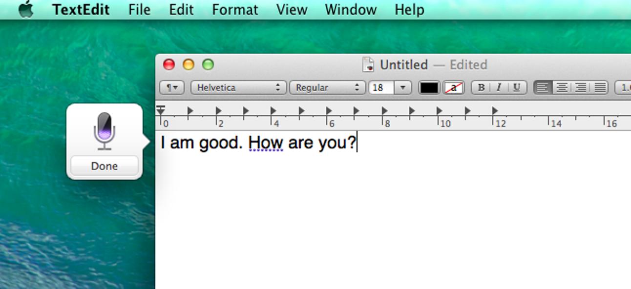 Verwenden Sie Voice Dictation, um mit Ihrem Mac zu sprechen