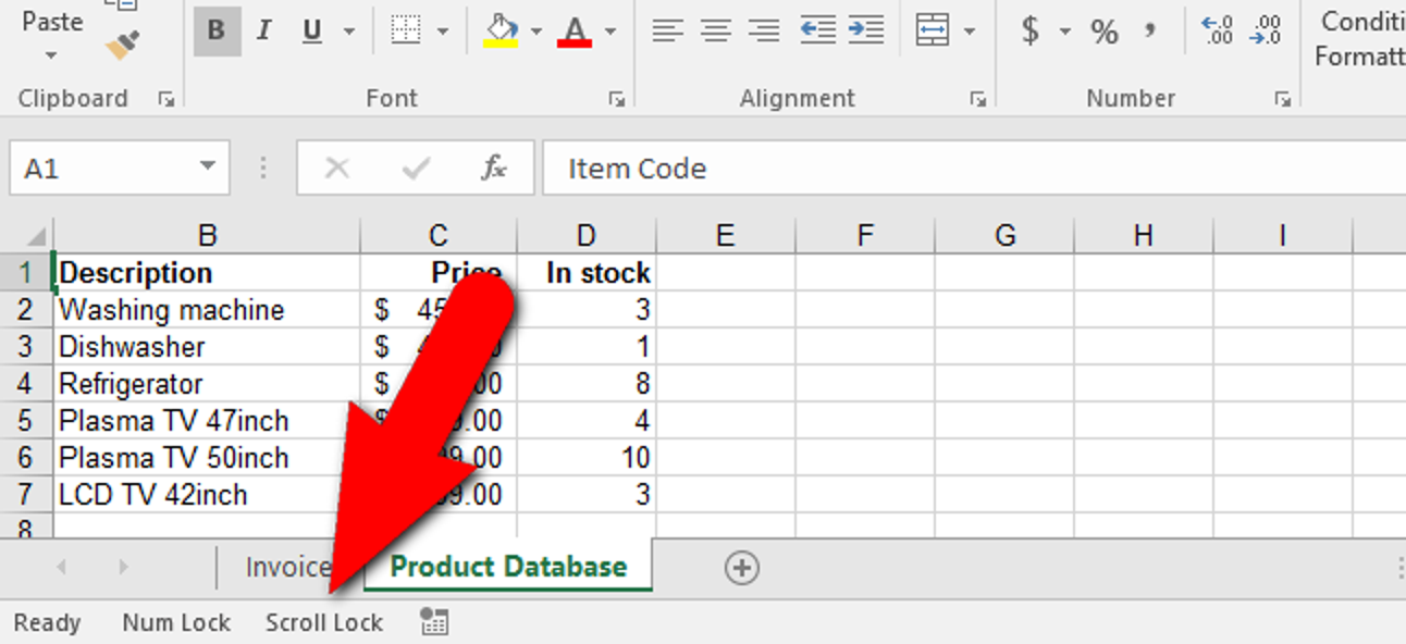 So beheben Sie das Scrollen mit der Pfeiltaste in Excel