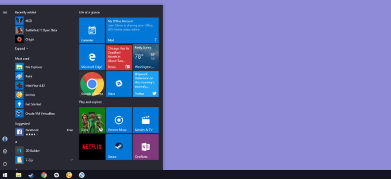 10 Möglichkeiten zum Anpassen des Windows 10-Startmenüs
