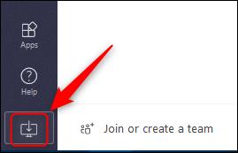 """Das """"App herunterladen"""" Schaltfläche in Teams online."""