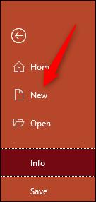 Öffnen Sie eine neue Powerpoint-Präsentation