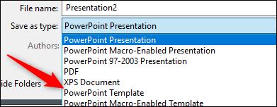 Als PowerPoint-Vorlage speichern Save
