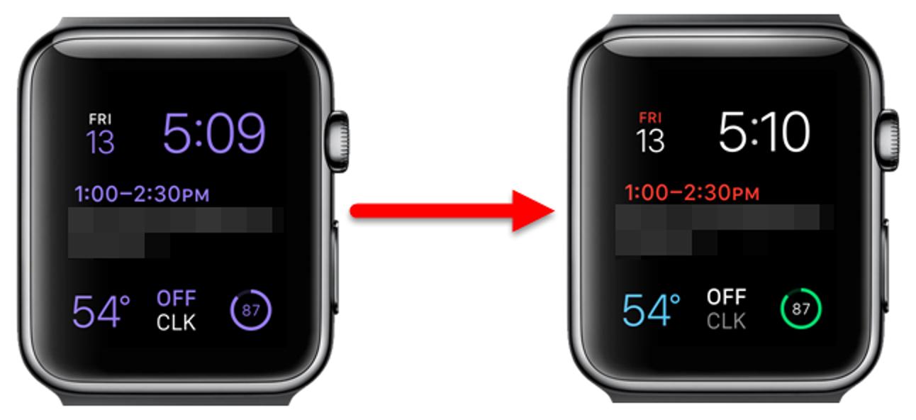 So machen Sie das modulare Apple Watch Face mehrfarbig