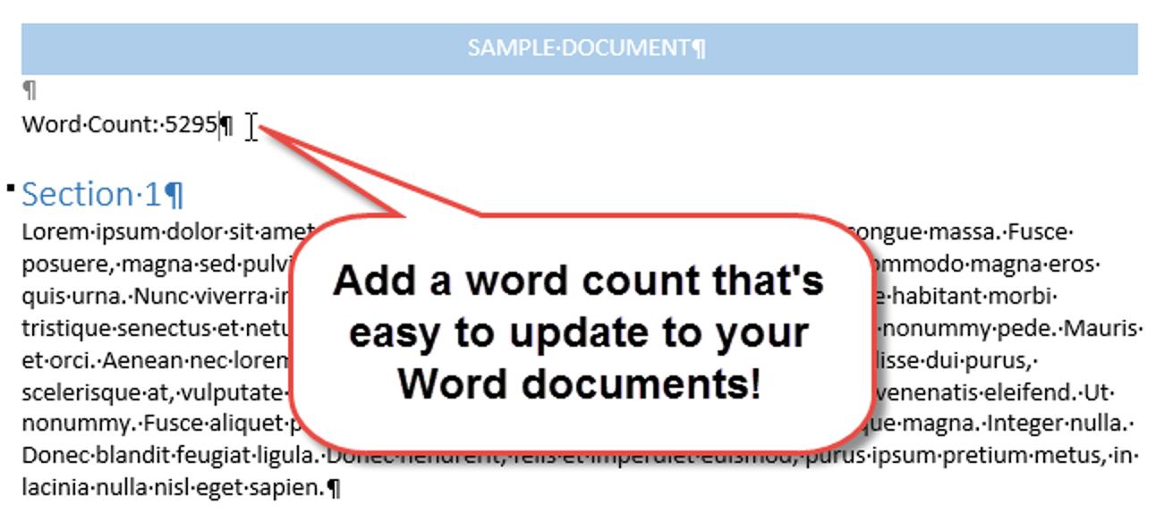 So fügen Sie eine Wortzählung in Ihr Word-Dokument ein