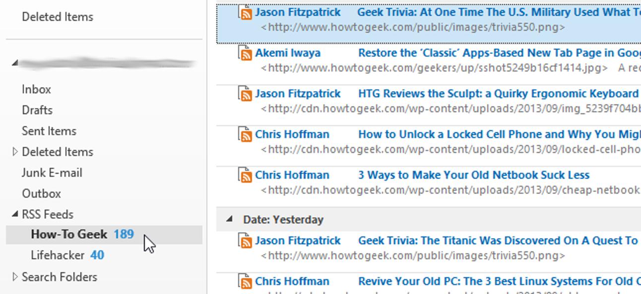 So deaktivieren Sie die automatische Aktualisierung von RSS-Feeds in Outlook 2013