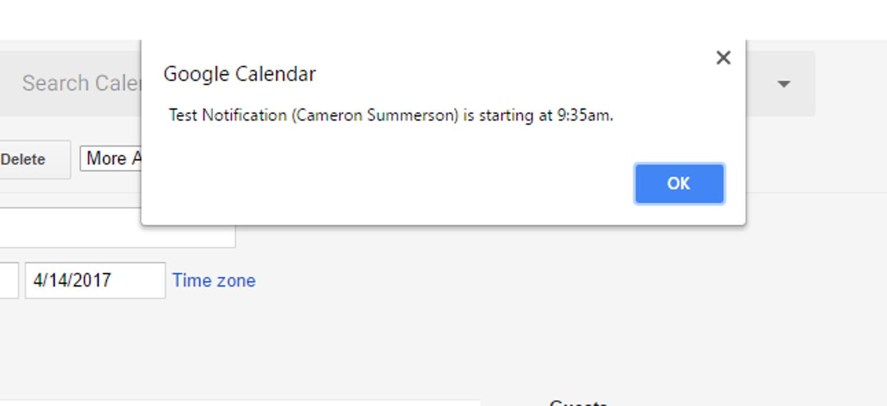 So passen Sie die Benachrichtigungen von Google Kalender im Web an
