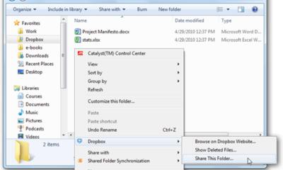 Benutzerhandbuch für freigegebene Dropbox-Ordner