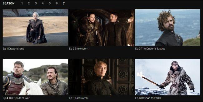Game of Thrones-Episoden zum Streamen auf der HBO-Website