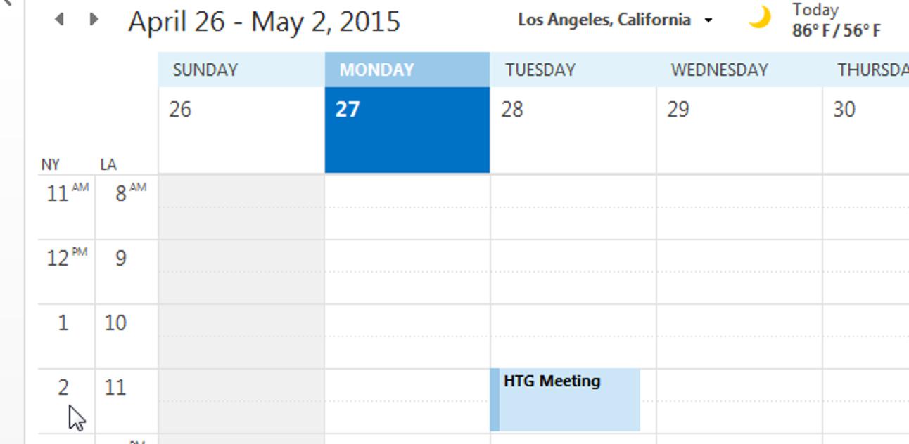 So fügen Sie Ihrem Kalender in Outlook eine zweite Zeitzone hinzu