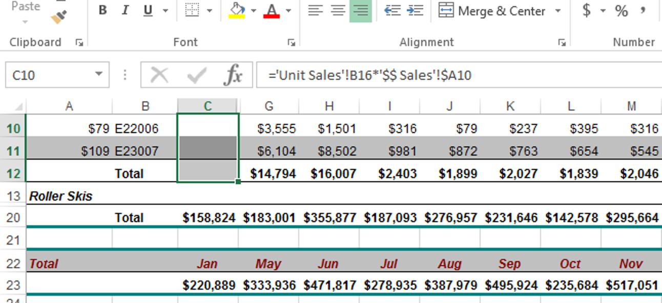 So blenden Sie Zellen, Zeilen und Spalten in Excel aus