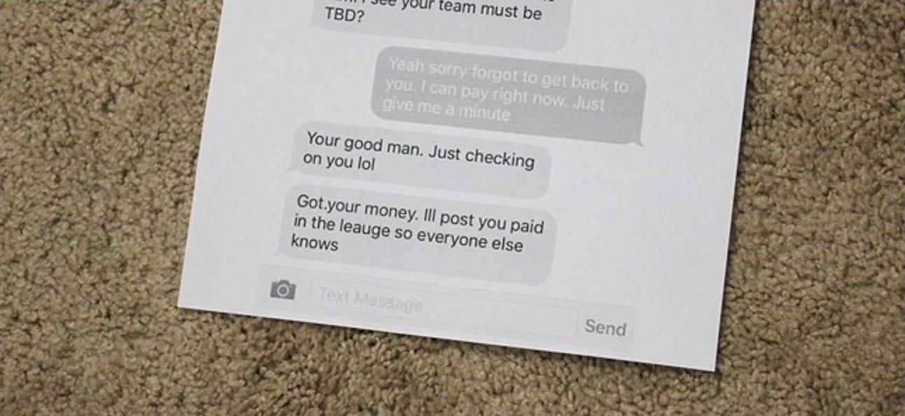 So drucken Sie ein SMS-Gespräch