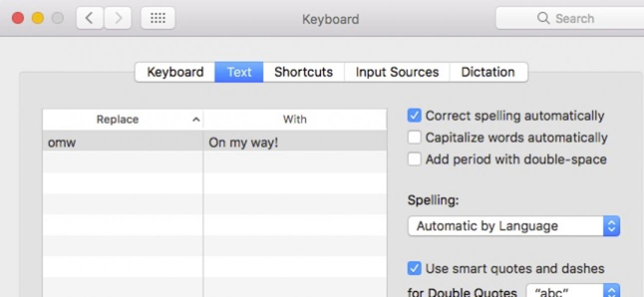 So aktivieren Sie die automatische Großschreibung und automatische Perioden in macOS Sierra