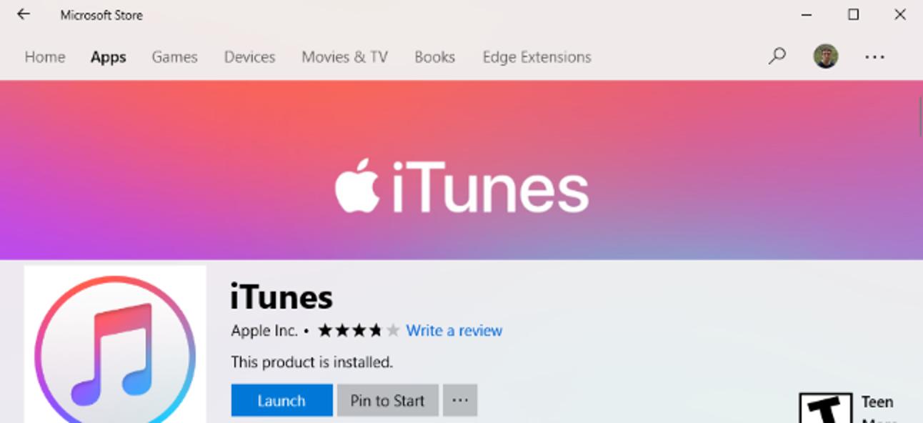 Vermeiden Sie iTunes Bloat mit der Windows Store-Version