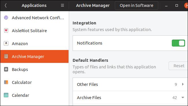 Einstellungen für Anwendungsberechtigungen unter GNOME 3.32
