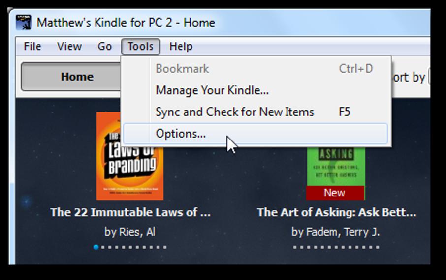 Kindle für PC online oder auf dem Desktop deaktivieren