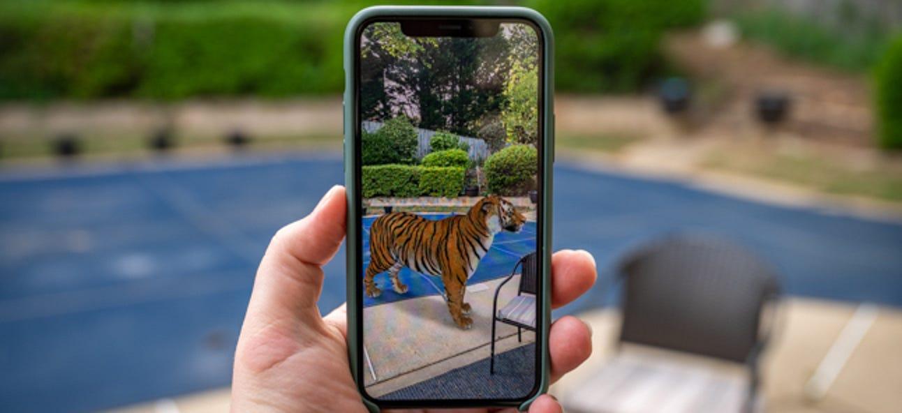Werden Sie ein Tigerkönig mit diesen 3D-Tieren und Objekten auf Google