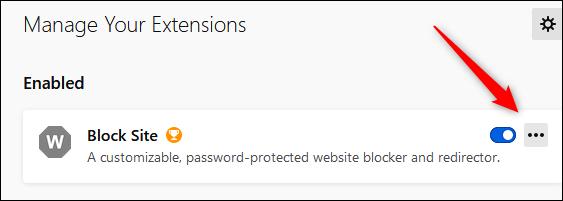 """Klicken Sie auf die drei Punkte neben """"Website blockieren."""""""