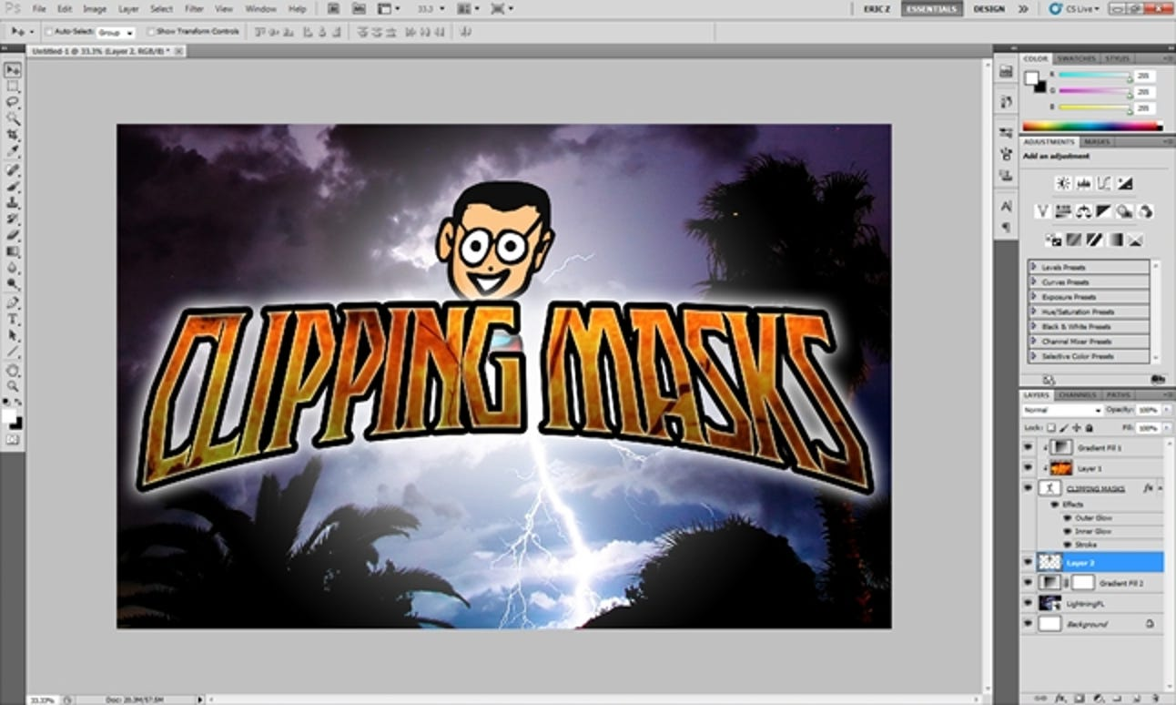 So verwenden Sie Schnittmasken (und keine Ebenenmasken) in Photoshop