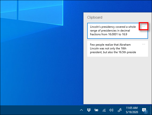Klicken Sie auf die Auslassungspunkte ( . . . ) neben dem Element, das Sie unter Windows 10 anheften möchten.