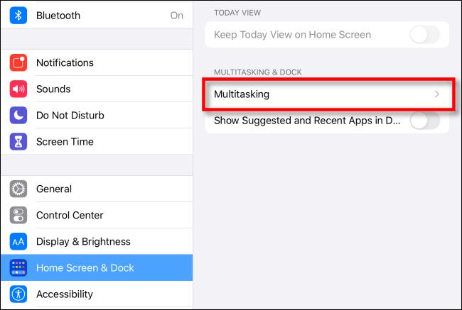Wählen Sie Multitasking-Optionen