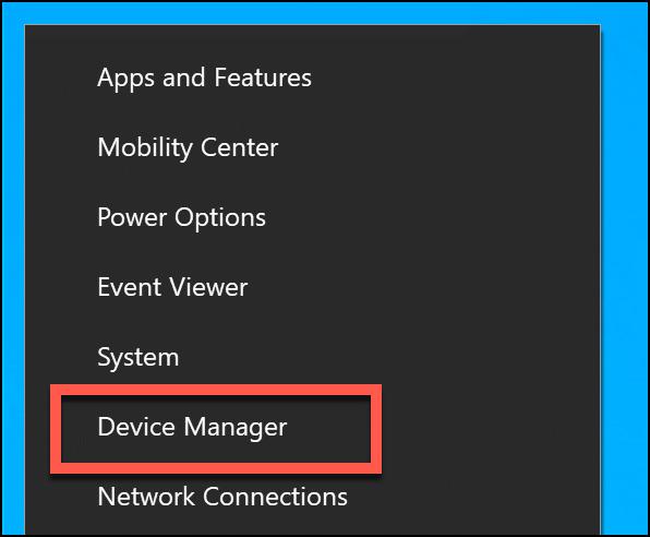 """Klicken """"Gerätemanager."""""""